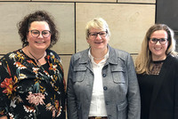 Sandra van Heemskerk, Britta Oellers und Yvonne Pielok (v.l.n.r.). © komba gewerkschaft nrw