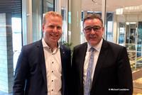 Landtagsabgeordneter Henning Rehbaum (links) mit Andreas Hemsing, Landesvorsitzender der komba gewerkschaft nrw (Foto: © Michael Landskron)